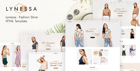 Lynessa - Fashion Store HTML Template - Fashion Retail
