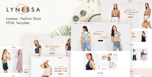 Download Lynessa - Fashion Store HTML Template