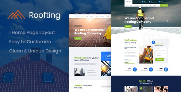 Roofting -  Construction PSD Template - Business Corporate