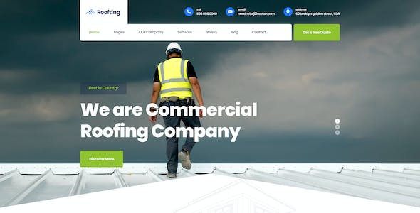 Roofting -  Construction PSD Template
