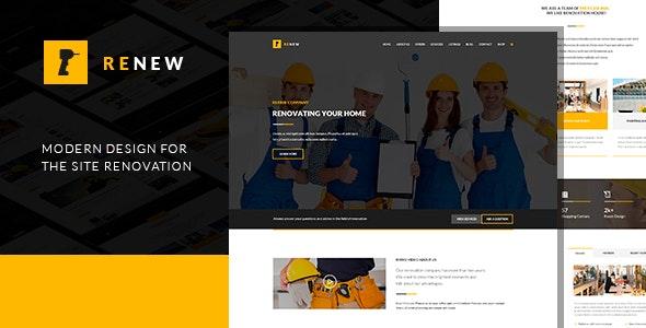 Renew - Renovation WordPress Theme - Business Corporate