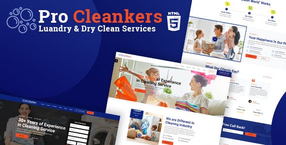 Download Pro Cleankers | Laundry and Dryclean HTML Template