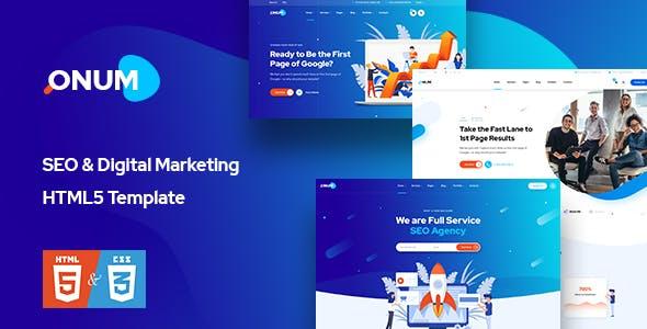 Onum - SEO & Marketing HTML5 Template