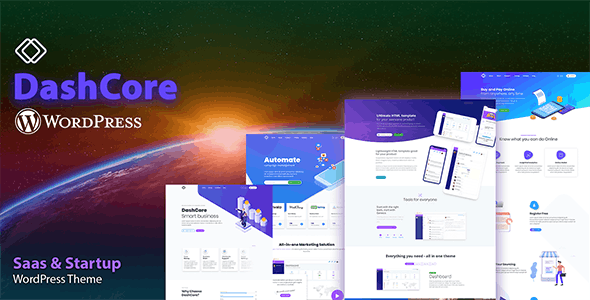 DashCore - Startup & Software WordPress Theme - Software Technology