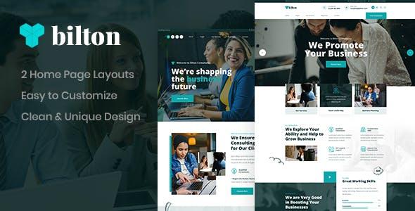 Bilton - Business PSD Template