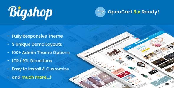 Bigshop - Responsive OpenCart Theme - OpenCart eCommerce