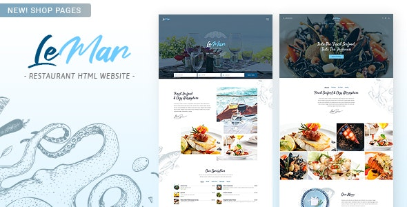 LeMar - Finest Seafood Restaurant HTML Template - Restaurants & Cafes Entertainment
