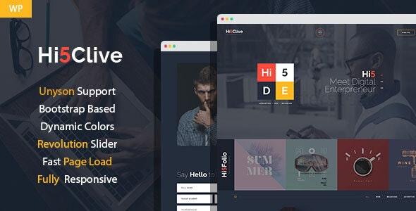 Hi5Clive - Digital Marketing Entrepreneur WordPress Theme - Marketing Corporate