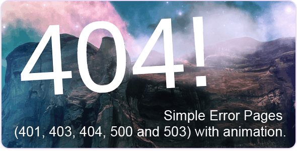404 - Error Pages - 404 Pages Specialty Pages
