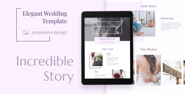 Wedding JD - Coming Soon HTML Template - Wedding Site Templates