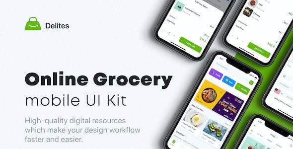 Delites - Online Grocery & Recipes UI Kit for Adobe XD
