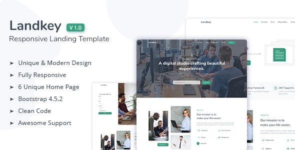 Landkey - A Responsive Creative Landing Page Template - Creative Site Templates