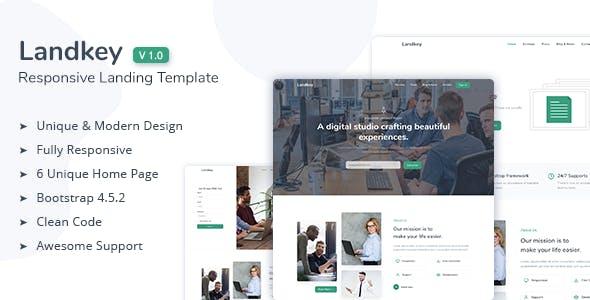 Download Landkey - A Responsive Creative Landing Page Template