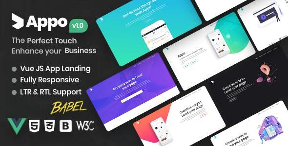 Download Appo - Vue JS App Landing Page