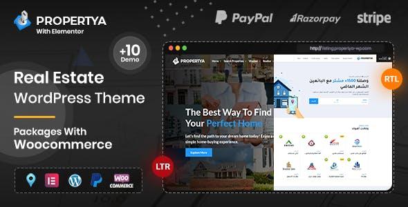 Download Propertya - Real Estate WordPress Theme