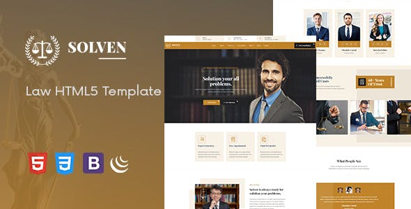 Download Solven - Lawyer HTML5 Template