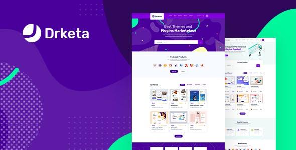 Download Drketa - Digital Marketplace HTML Template