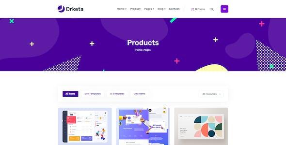 Drketa - Digital Marketplace HTML Template