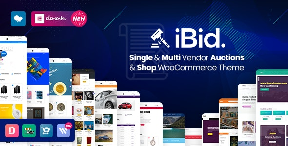 iBid - Multi Vendor Auctions WooCommerce Theme - WooCommerce eCommerce