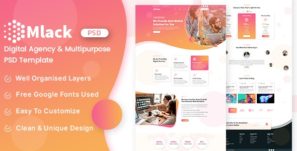 Mlack-Creative Digital Agency & Multipurpose PSD Templates - Corporate Figma