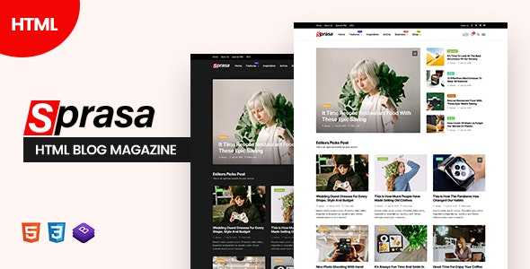 Sprasa - HTML Blog Magazine - Miscellaneous Specialty Pages