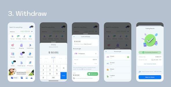 ftripay - Digital Wallet Mobile Ui Kit