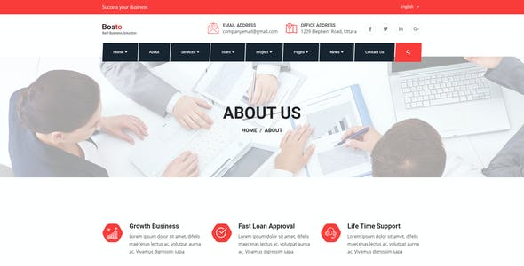 Bosto - Business Consulting HTML Template