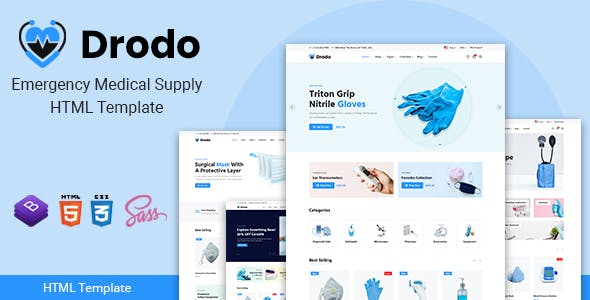 Download Drodo - Medical Supply eCommerce HTML Template