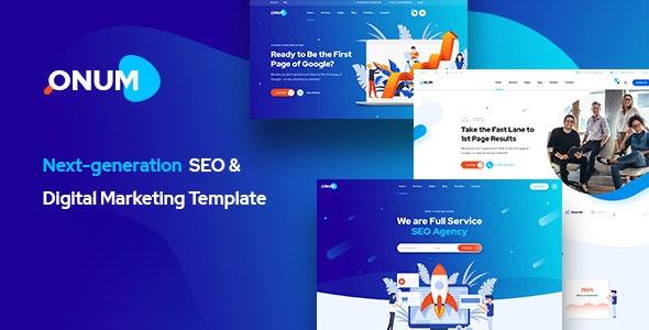 Onum - SEO & Marketing PSD Template - Marketing Corporate