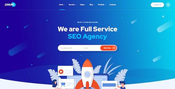 Onum - SEO & Marketing PSD Template