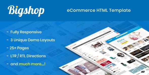 Bigshop - eCommerce HTML Template