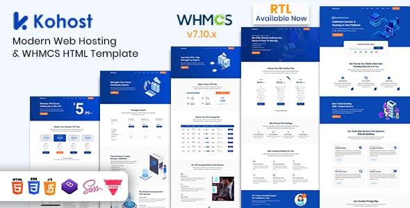 Download Kohost – Modern Web Hosting & WHMCS Template
