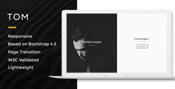 Download Tom-Resume, Portfolio, Vcard Template