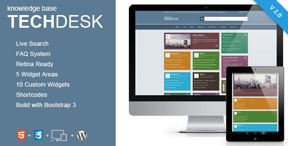TechDesk - Responsive Knowledge Base/FAQ Theme