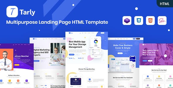Download Tarly - Multipurpose Landing Page HTML Template