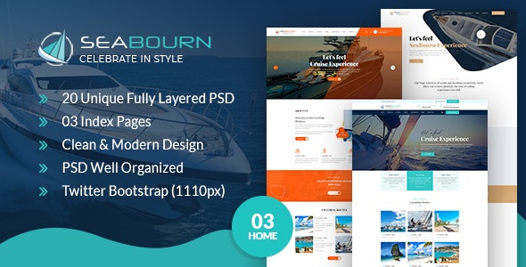 Seabourn Boat Booking PSD Template - Travel Retail