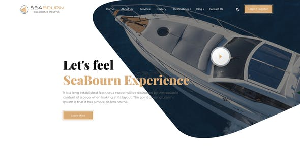 Seabourn Boat Booking PSD Template