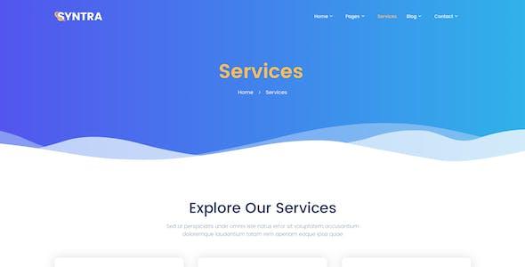 SYNTRA – SEO & Digital Marketing Agency Adobe XD Template