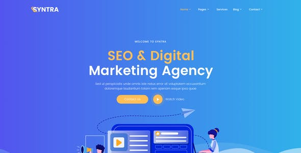 SYNTRA – SEO & Digital Marketing Agency Figma Template
