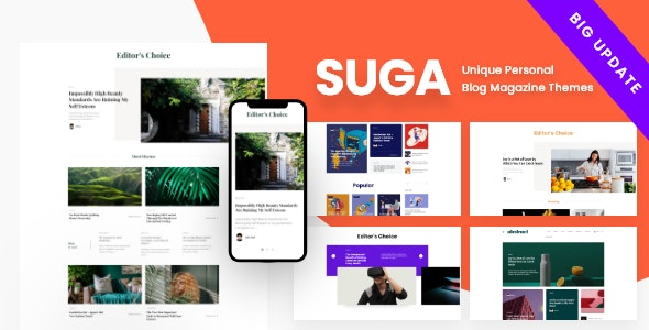 Suga - Magazine and Blog WordPress Theme - News / Editorial Blog / Magazine