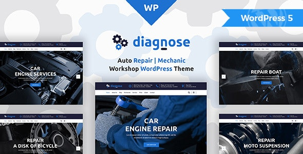 Diagnose - Auto Repair Services WordPress Theme - Business Corporate