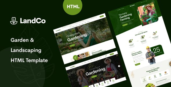 Download LandCo – Garden & Landscaping HTML5 Template