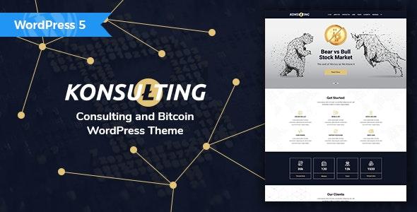 Konsulting - Consulting & Bitcoin WordPress Theme - Technology WordPress