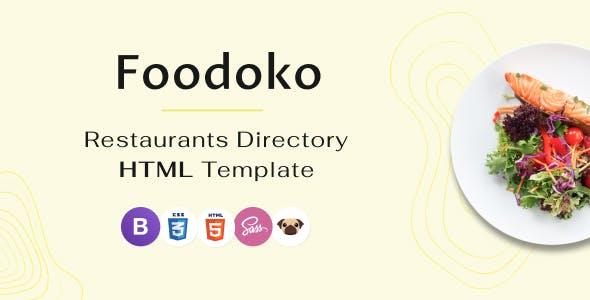 Download Foodoko - Restaurants Directory Multipurpose HTML Template, Food Delivery