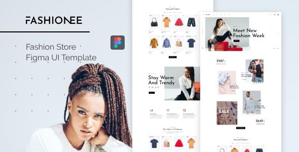 Fashionee - Fashion Store Figma UI Template