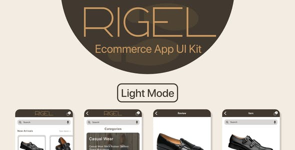 Rigel - Ecommerce App UI Template for XD