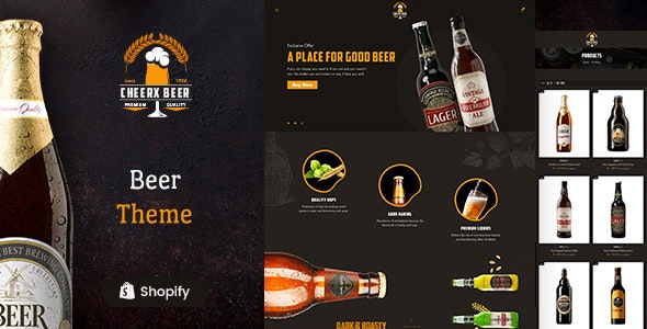Cheerx - Beer & Liquor Store Shopify Theme - Shopify eCommerce