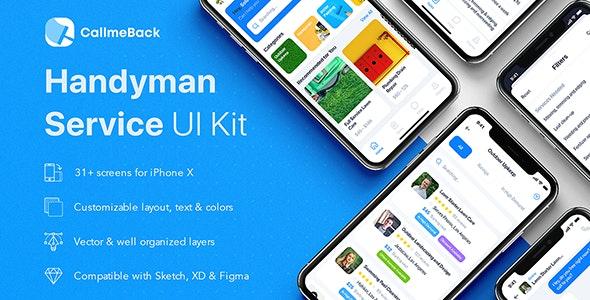 CallmeBack - Handyman Service UI Kit for Adobe XD - Adobe XD UI Templates