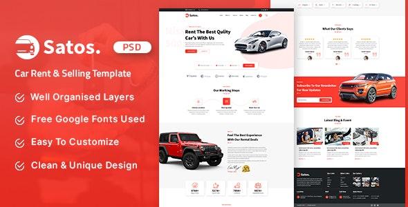 Satos - Car Rent & Selling Template - Business Corporate