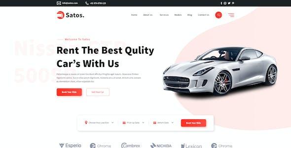 Satos - Car Rent & Selling Template